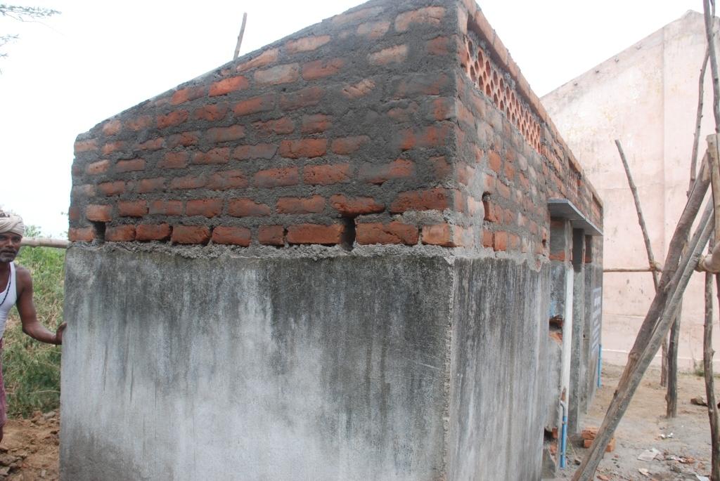 Renovation of toilet in Chennai Venmani school