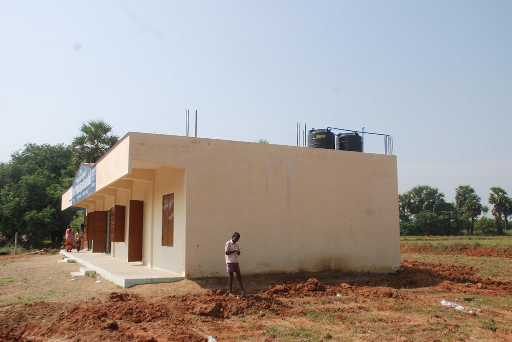 Kalpat school with overhead tank