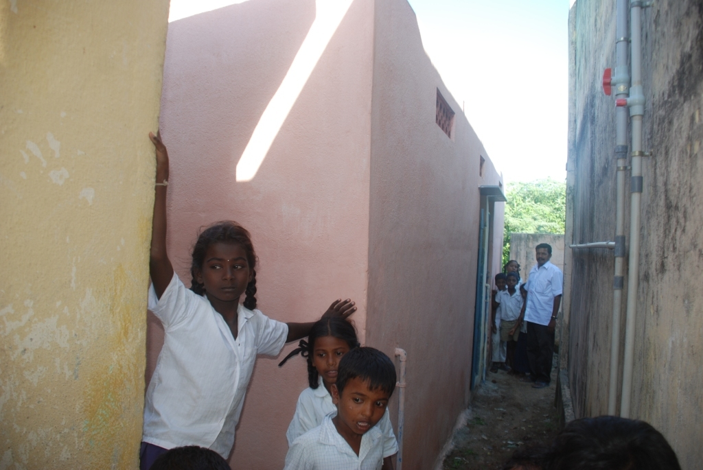 Ariyanur School toilet renovated