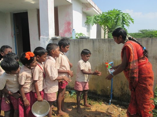 Toilets & Water for school children, rural India