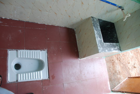 Private latrine in school for girls