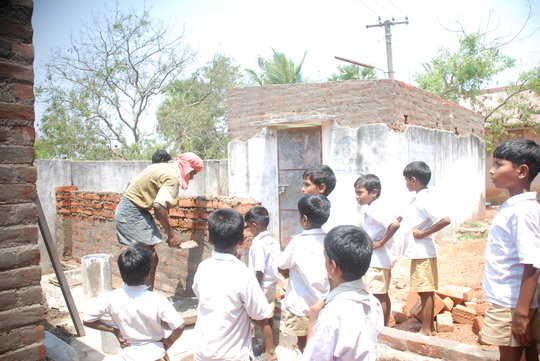 Construction of a school toilet