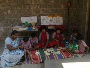 Craft work by Divine Light children