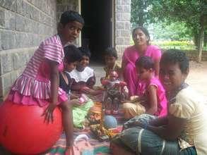 Training the multiple disabled children