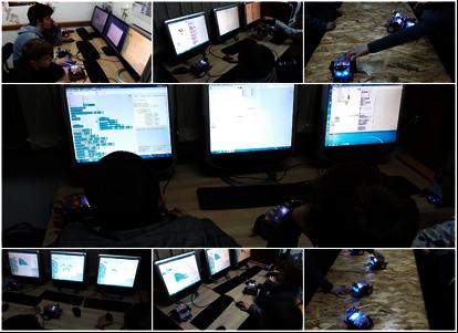 Participants programming robotics