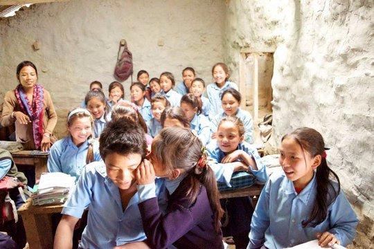 School Children Gossiping