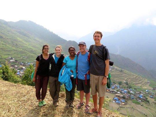 GROW interns in Serthung, Nepal