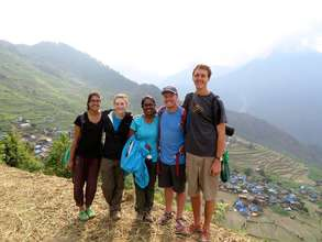 GROW interns in Serthung, Nepal