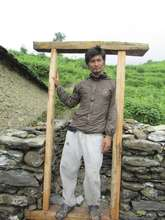 A latrine under construction