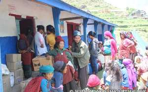 Supplies donated by HHC to communities in Dhading