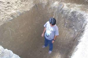 Hole for Latrine