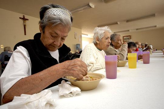 Senior in a Community Center