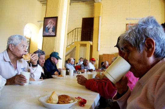 Seniors in a Community Center