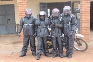 The Nwoya Staff with their new riding gear