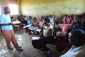 Pupils of Wianaka P7 during a school sensitization
