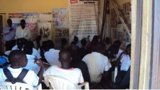 A group of youth attending health talk