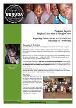 Progress Report 1: Orphan Education Through Goats (PDF)