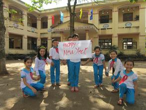 New Year greetings from Khe Sanh students