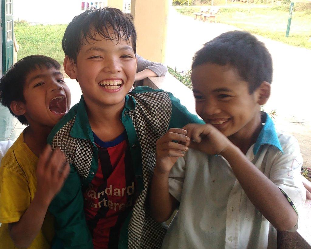 Children enjoying their summer time