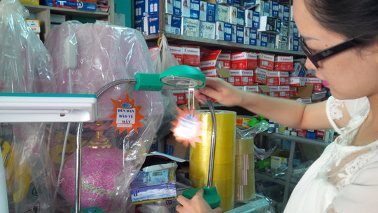 GCSF staff is buying reading lamps for Pa Nho