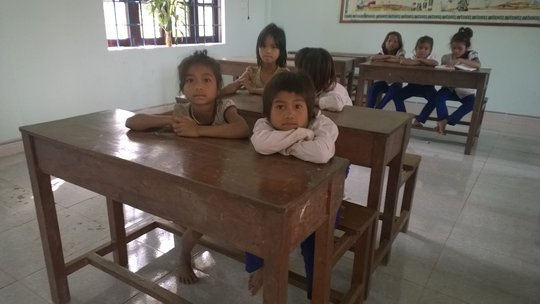 These children from nearby villages want books too