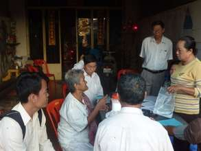 Weekly gathering at home of Peer Educator