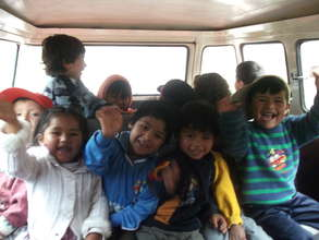 Our children on the van!!!