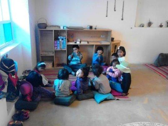 circle time with Inti classroom