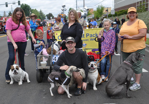 Some of the Pack in the Hazel Dell Parade