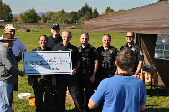 $15,000 Check Presented to Washougal Police Dept