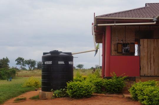 Rainwater capture guttering & storage tank