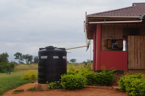 Rainwater capture guttering & storage tank