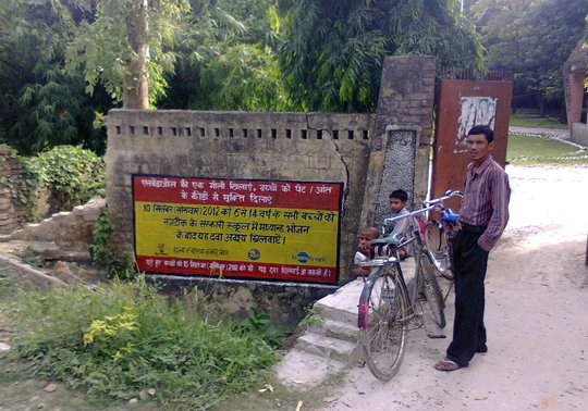 In Bihar, a wall painting to promote awareness
