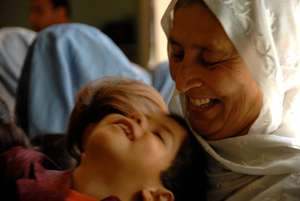 Mother and child at Clinic