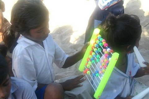 Children with Educational Material