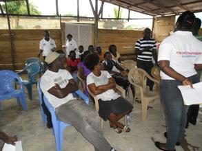 Master craftsmen during training