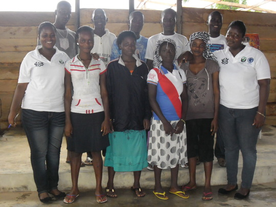 Ex-child slaves with RFG staff at the training