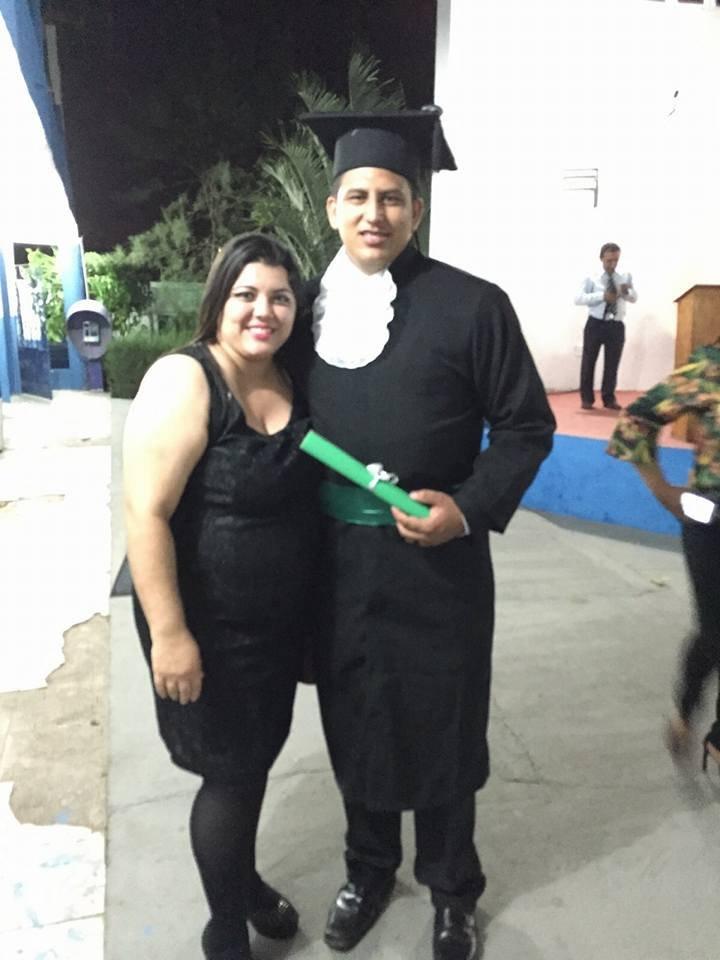 Neto with his professor