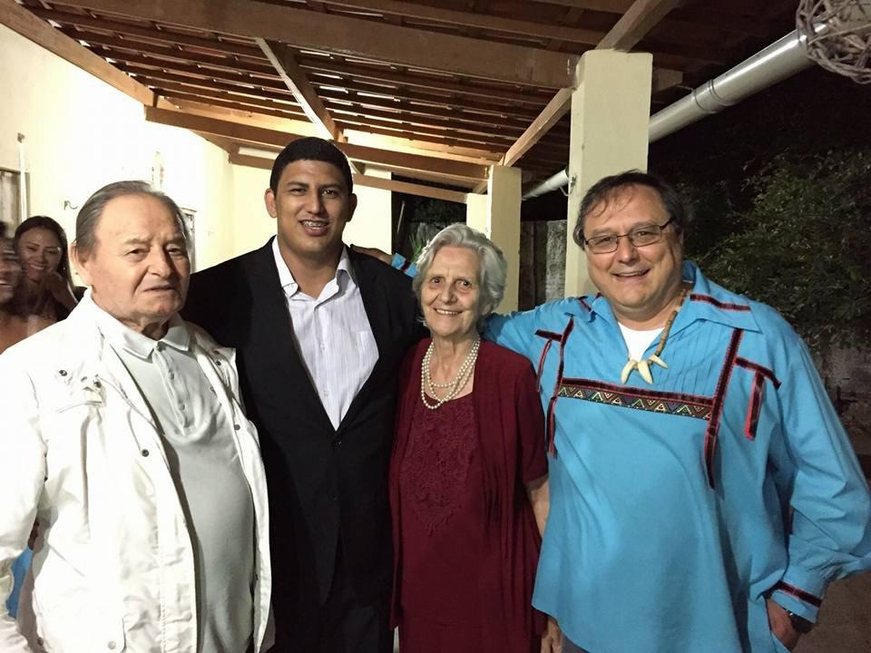 Neto with Father Rino & Father Rino