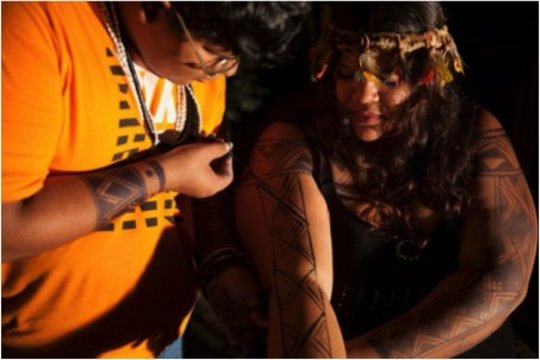 indigenous body art by Benicio