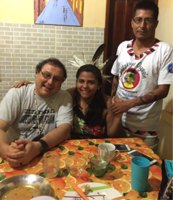 Ruth on a visit home with Father Rino & Wopila