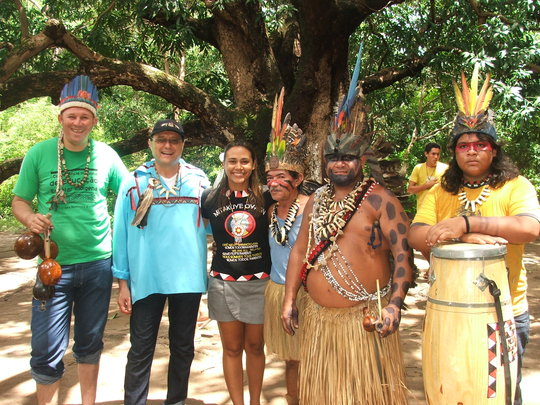 Indigenous leader Paje Barbosa with MSMCBJ leaders