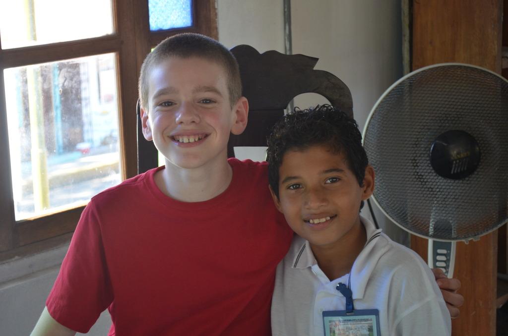 Riley and his Nicaraguan friend, Alvarito
