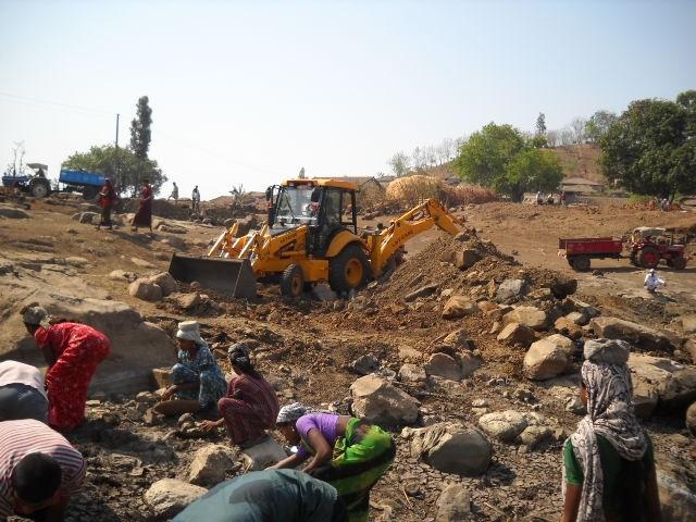 Site Cleaning by Labour & Villagers