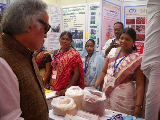 Jairam Ramesh, Min of Rural Dev, at SNSF Kiosk