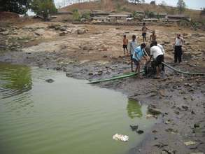 Use of Diesel Pump to Remove Dirty Water