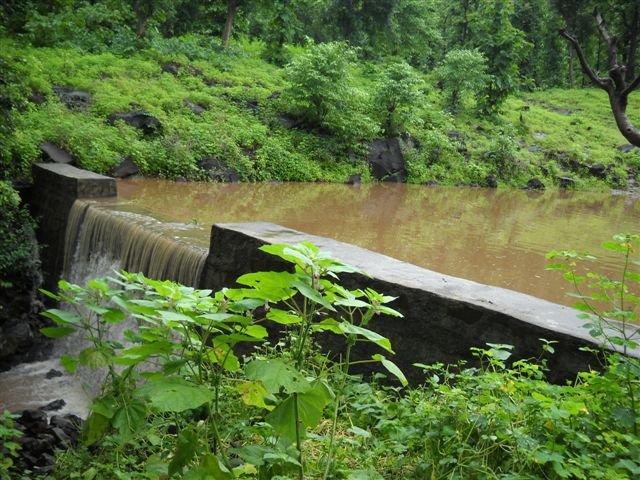 Jhambulpada Check Dam Fills in Year 2!
