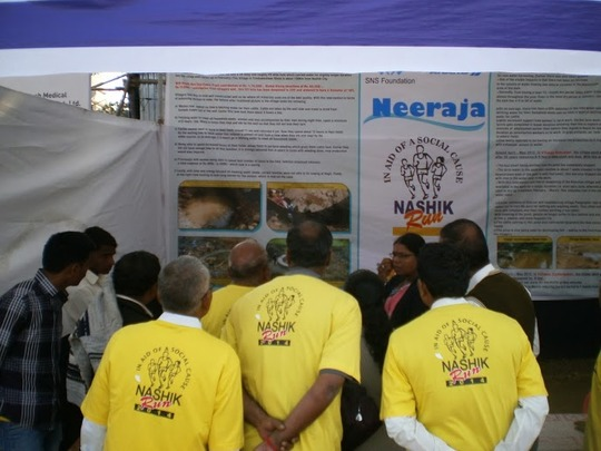 SNSF Kiosk at Nasik Run draws keen audience