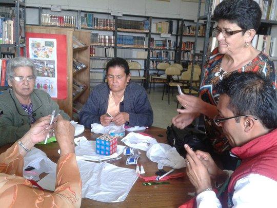 Atendees engage in creative awareness activities
