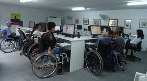 Training for people with physical disabilities